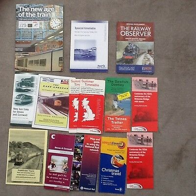Job Lot Of Railway Leaflets,Booklets,Timetables Etc From 2000's