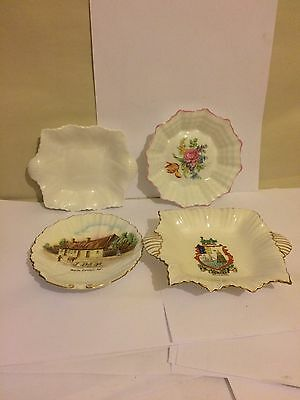 ***4 X Shelly Pin Dishes All In Perfect Condition - Beautiful Dainty Pieces****