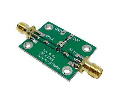 0.1-2000MHz RF Amplifier 30dB low-noise LNA Broadband Module Receiver ( 28V035 )