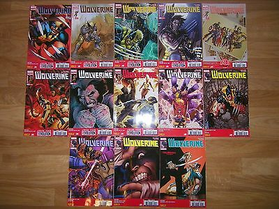 lot comics marvel WOLVERINE (v4) N°1 a 13