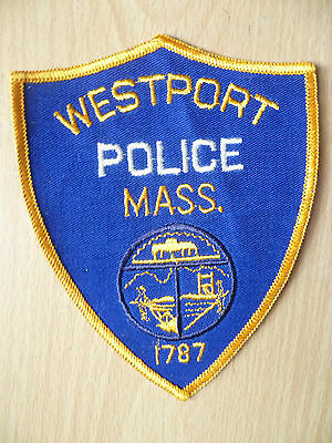 Patches: WESTPORT MASS 1787 POLICE PATCH (NEW, apx. 5x4 inch)