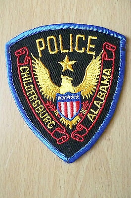 Patches: CHILDERSBURG ALABAMA POLICE PATCH (NEW, apx. 4.5x3.14)