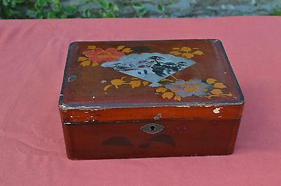 Vintage Lacquered Oriental Box