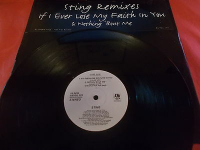 Sting 12 Inch Promo If I Ever Lose My Faith In You A&m Records 1994