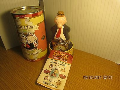 Limited edition Whimpy Tin Figure Fossil watch  Popeye  (A3)