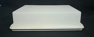 Vintage Sheer Rectangular Tupperware Cake Carrier with lid 622 & 623