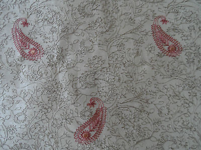 Silk Fabric Embroidered 100 % silk. REDUCED