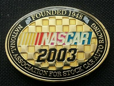 (AUTHENTIC) NASCAR 2003 Association For Stock Car Auto Racing Challenge Coin