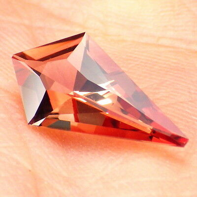 PEACHY-COPPER RED OREGON SUNSTONE 1.78Ct FLAWLESS-FOR BEAUTIFUL JEWELRY!