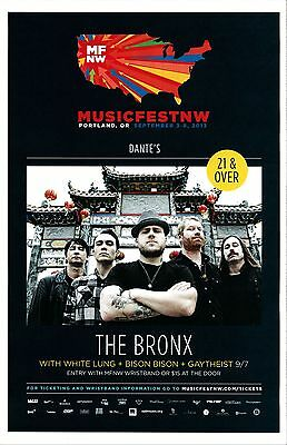THE BRONX 2013 Gig POSTER MFNW Portland Oregon Musicfest NW Concert