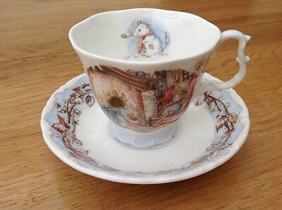 "Royal Doulton Brambly Hedges ""Winter"" cup and saucer 1983"