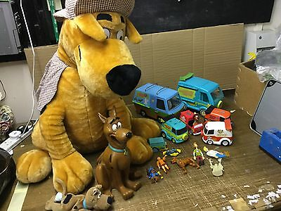 Large Job Lot Scooby Doo Bundle Toys Figures Cars Plush