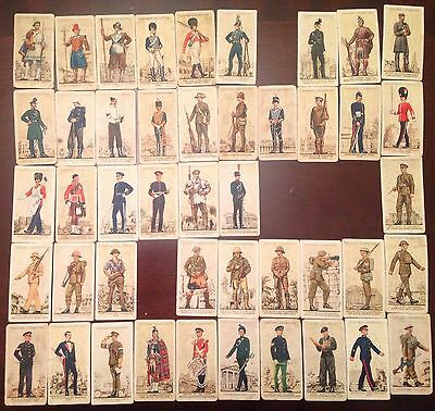 John Player & Sons Uniforms of the Territorial Army 1939 Cigarette Cards