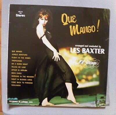 LES BAXTER and THE 101 STRINGS -QUE MANGO LP  FAMILY SFR 615 ITALY 1972  NEW
