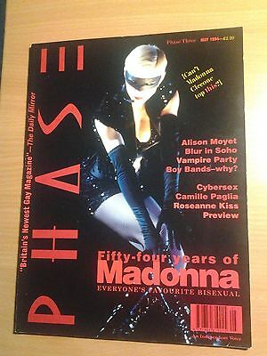 PHASE Gay Magazine Madonna Cover May 1994 Excellent condition