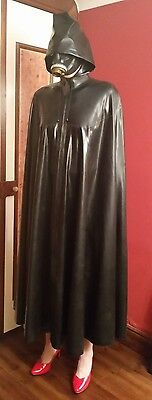 large latex Hooded Cape