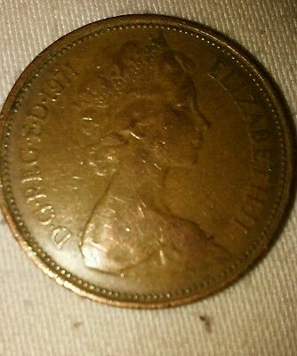 Very rare 2 new pence  1971 Coin