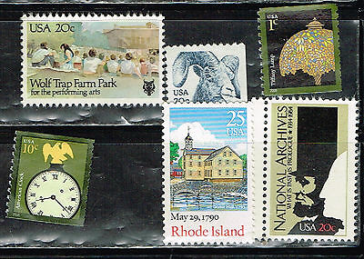 (14-179) 6  Assorted Uncancelled  US  Postage sTamps