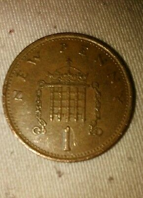 1p coin 1980 NEW PENNY
