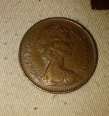 1p coin 1981 NEW PENNY