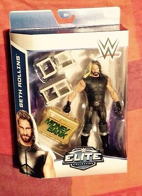 Wwe seth Rollins elite series 37 figure new very rare with MITB case