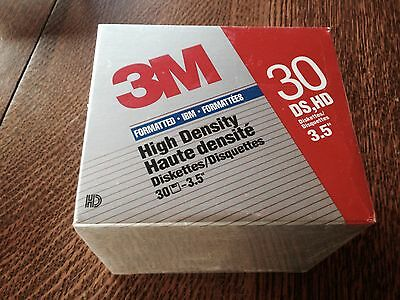 """4 boxes 95 3M 3.5"""" HIGH DENSITY DS, HD DISKETTES, IBM FORMATTED New Old Stock"""