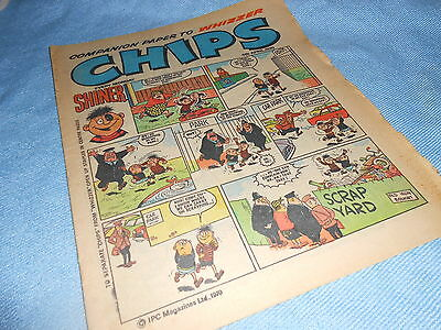 Vintage CLASSIC UK COMIC - WHIZZER & CHIPS - 4th April 1970