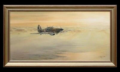 Hawker Hurricane Ginger Lacey 501 Sqn Painting E. A. Mills Aviation Art