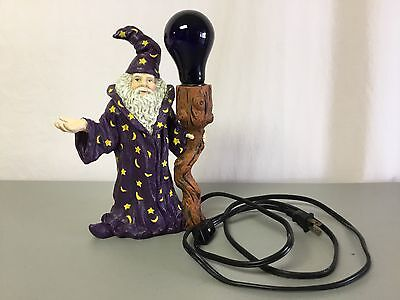 Wizard With Electric Blue Light Lamp Post #81R