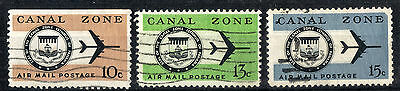 Canal Zone. 1965-1974 Air.  SG234 and 236-237.  Used.