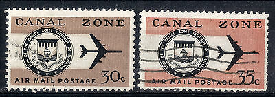 Canal Zone. 1965-1976 Air.  SG241-242.  Used.