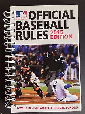 Official Major League Baseball Rule Book Spiral Bound Rules Revised Edition MLB