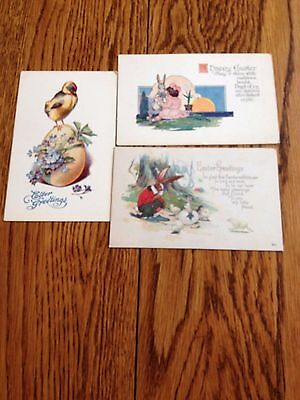 (3) Vintage Easter Cards---Unused--Nice Condition