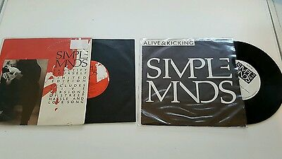 """Simple Minds -Sanctify Yourself and Alive and Kicking 7""""SINGLES"""