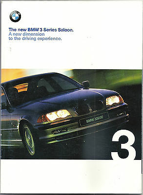 BMW 3 Series E46 Saloon Brochure and Price List - 1998