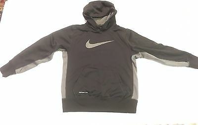 Boys Girls Nike Therma-Fit Large Pullover Hoodie Youth Medium M Black