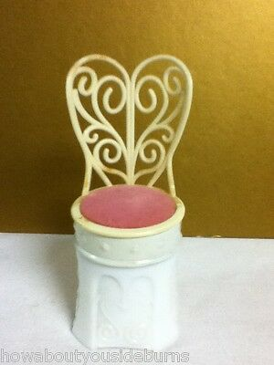 Yj3 Sonnet Cream Sachet Chair Chairs Vintage Avon Collectible Empty Unique!