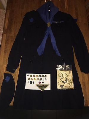 Vintage 1960s Icelandic Scout Uniform,2 Hats,Song Book.Pins,Lot,Very Rare
