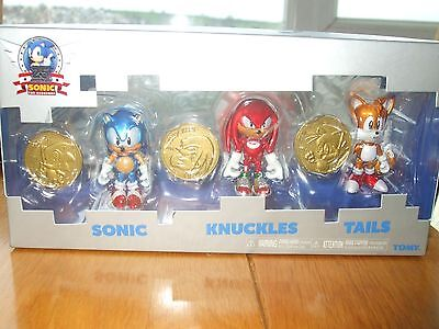 Sonic The Hedgehog 25th Anniversary Collectors Set Coins Knuckles Tails New