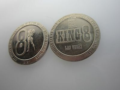 1979 King 8 One Dollar Casino Chips (2)