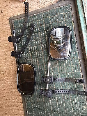 Caravan / Trailer Mirrors Pair used