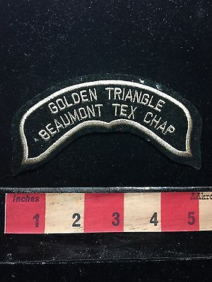Golden Triangle Beaumont Texas Tex Chap Jacket Patch (? Texas Chapter ?) 71F2