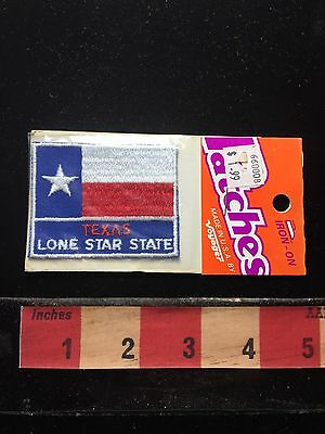 Vtg In Package Voyager Brand Texas LONE STAR STATE Flag Theme Jacket Patch 71F2