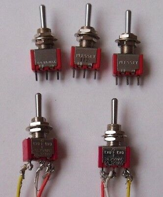 PlesseyToggle On/Off Switches x3 & Salecom Toggle Switches x2