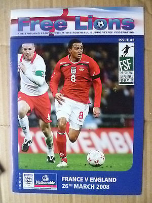2008 Free Lions- FRANCE v ENGLAND, 26 March (Org*, Exc)