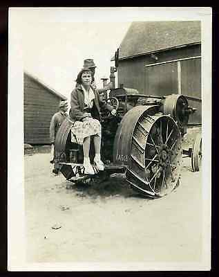 Vintage 1920's Eagle F with Exhaust Cut Out 3 tube Whistle Farm Tractor Photo