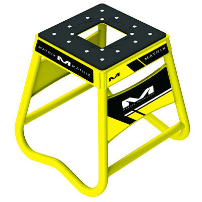 Matrix Concepts A2 Aluminium MX Stand - Yellow Motocross Service Pit Offroad Tra