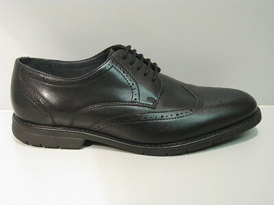 Men's New Black Leather Brogue Lace-up with Memory foam sock UK 8