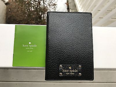 NWT Kate Spade Wellesley Imogene Passport Holder W Credit Card Pockets Black