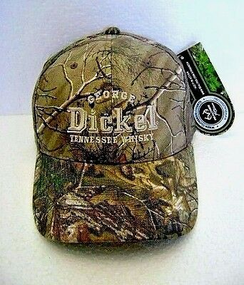 George Dickel Hat Camo/ Camoflage Baseball Cap One Size fits Most New Old Stock